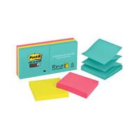 3M Post-It Notes Pop Up #R330-6SSMIA Super Sticky 73x73mm Miami 6pk