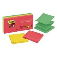 Post-it Super Sticky Pop-up Notes Marrakesh 76x76mm Pk6 R330-6SSAN