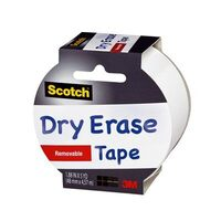 Scotch Dry Erase Removable Tape 48mm x 4.57m 1905R-DE-WHT