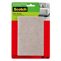3M Command Felt Pads Beige Rectangle SP840 101x152mm 4pk