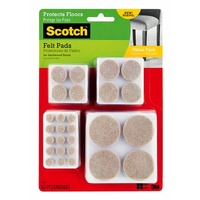 3M Command Felt Pads Value Pack Beige Round SP845 Assorted Sizes 162pk