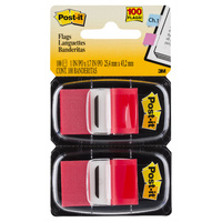 3M POST-IT FLAG TWIN PACK RED #680-RD2