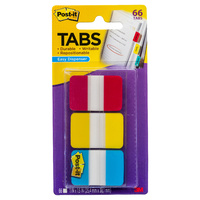 Post-it Durable Tabs 25x38mm Red Yellow Blue Pk66 686-RYB