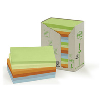 Post-it 100% Recycled Notes Pastel 76x127mm 16 pads/tower 655-RTP