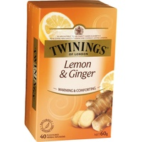Twinings Lemon & Ginger Tea - String & Tag Pk40