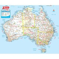 Ausway Aust Town & Country Map Rolled Laminated 1000X830mm