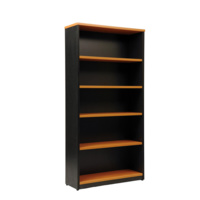 Logan Bookcase 1800X900 - 5 Shelf Beech Ironstone