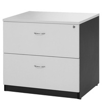Logan Lateral File White & Ironstone 2 Draw