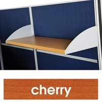 T8 Partitions Timber Shelf - With Brackets Cherry
