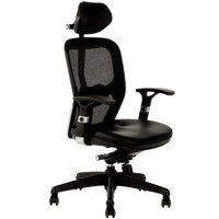 Galaxy Mesh Chair High Back - Black
