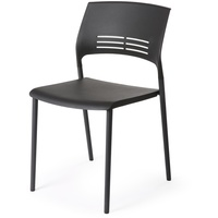 Eternia Stacking Chair - Black W480mmxh445mm