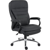 Titan Executive High Back  Chair - Black Leather