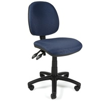 Crescent Task Chair Blue Fabric