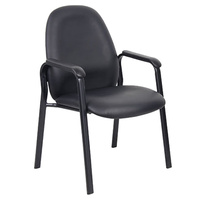 Bronte Client Chair Black PU Upholstery