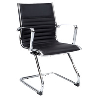 Cogra Cantilever Executive Chair Black Leather