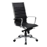 Cogra Executive Chair High Back - Black Leather