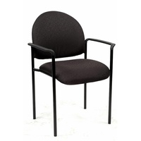 Neutron Visitor Chair Arms - Black Fabric