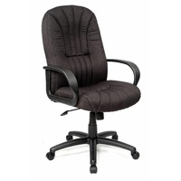 Houston Manager Chair High Back - Black Fabric