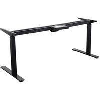 Summit 2 Sit To Stand - Straight Desk Frame Only Black