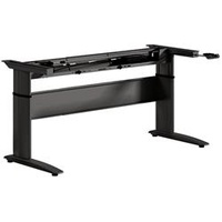 Summit Sit To Stand Electric Desk Height Adjustable 2 Leg Frame - Black Width 1500-1800mm 725 - 1185mm Height, 4 Preset Control Pad
