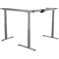 Summit 2 Sit To Stand Return - Corner Desk Frame Only. Silver