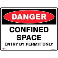 Safety Signage - Danger - Confined Space Entry By Permit