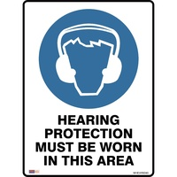 Safety Signage - Mandatory - Hearing Protection To Be Worn