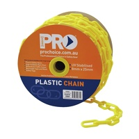 Zions Safety Chain 8mm 25 Metre Roll Yellow
